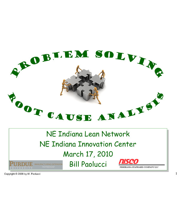 proposal for problem solving and root cause analysis for businesses example