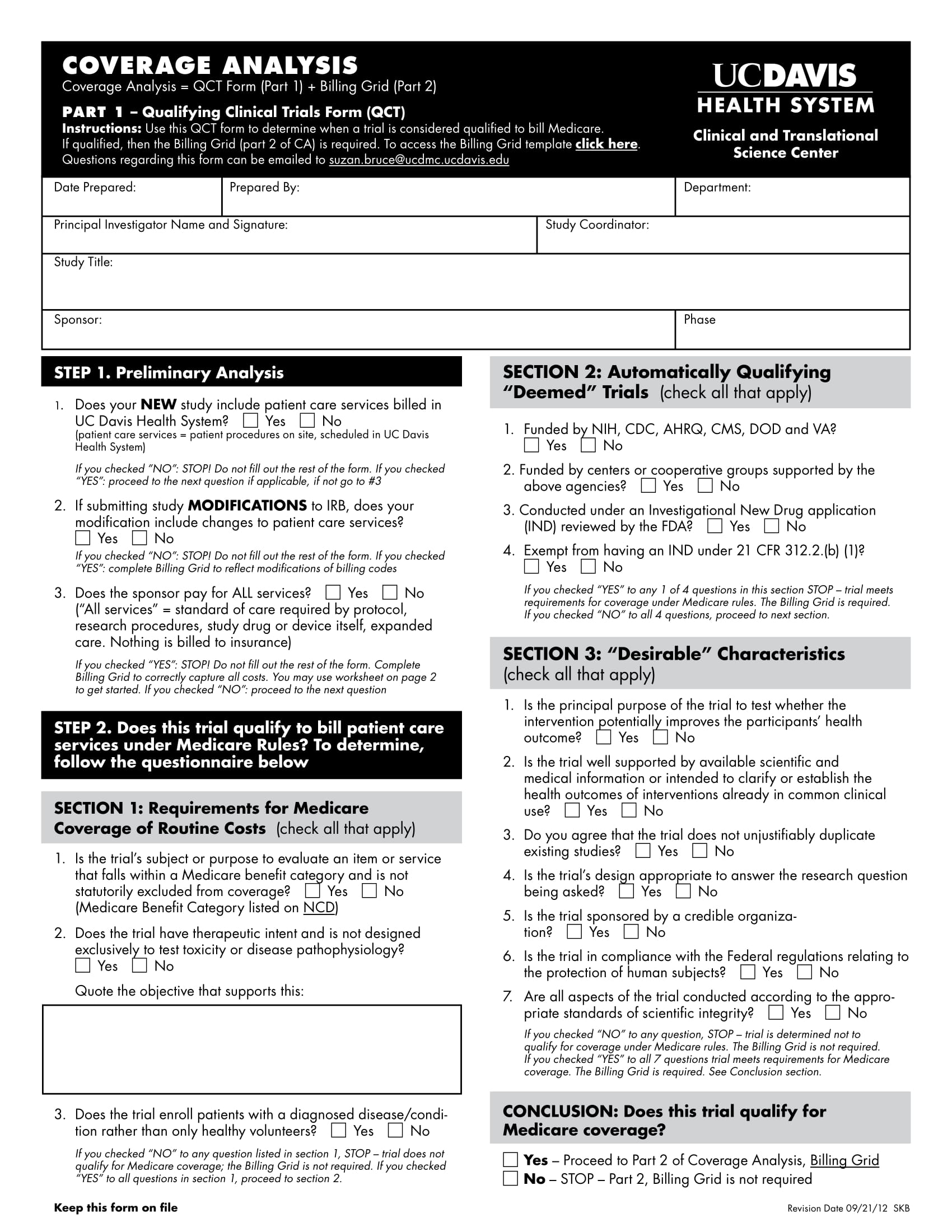 qualifying clinical trials form