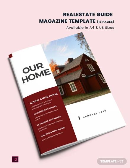 real estate guide magazine template