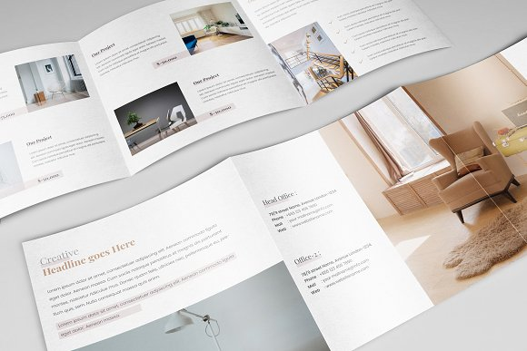 real estate home decor brochure example