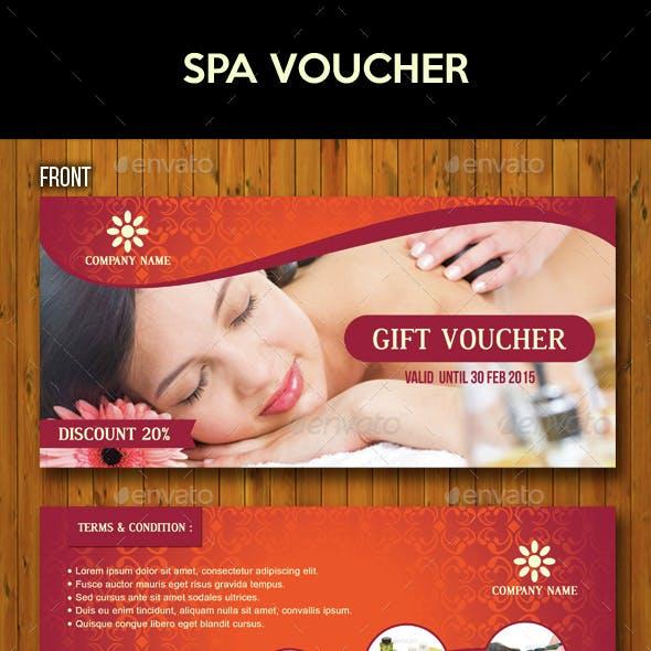 rejuvenating spa voucher design