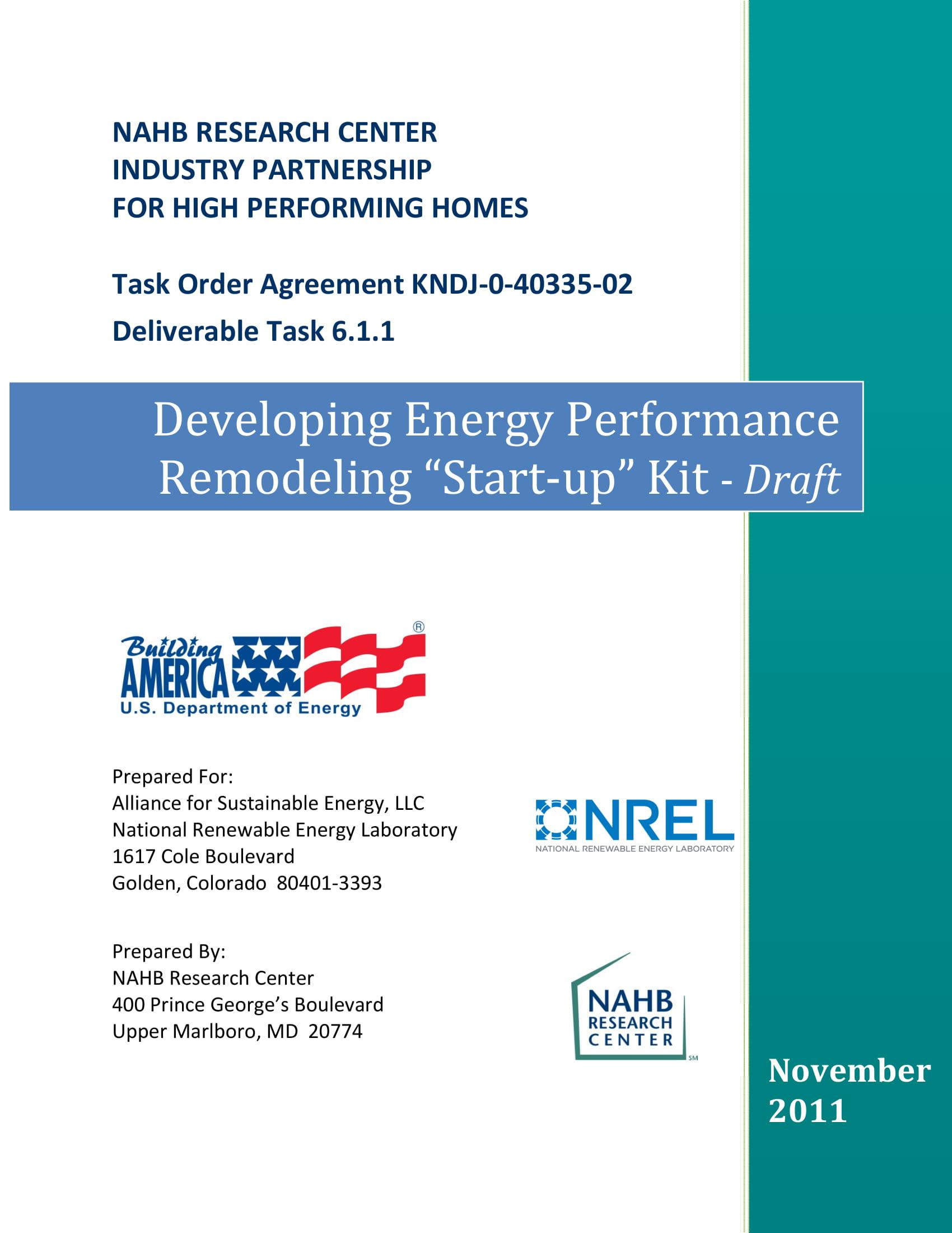 remodeling start up kit