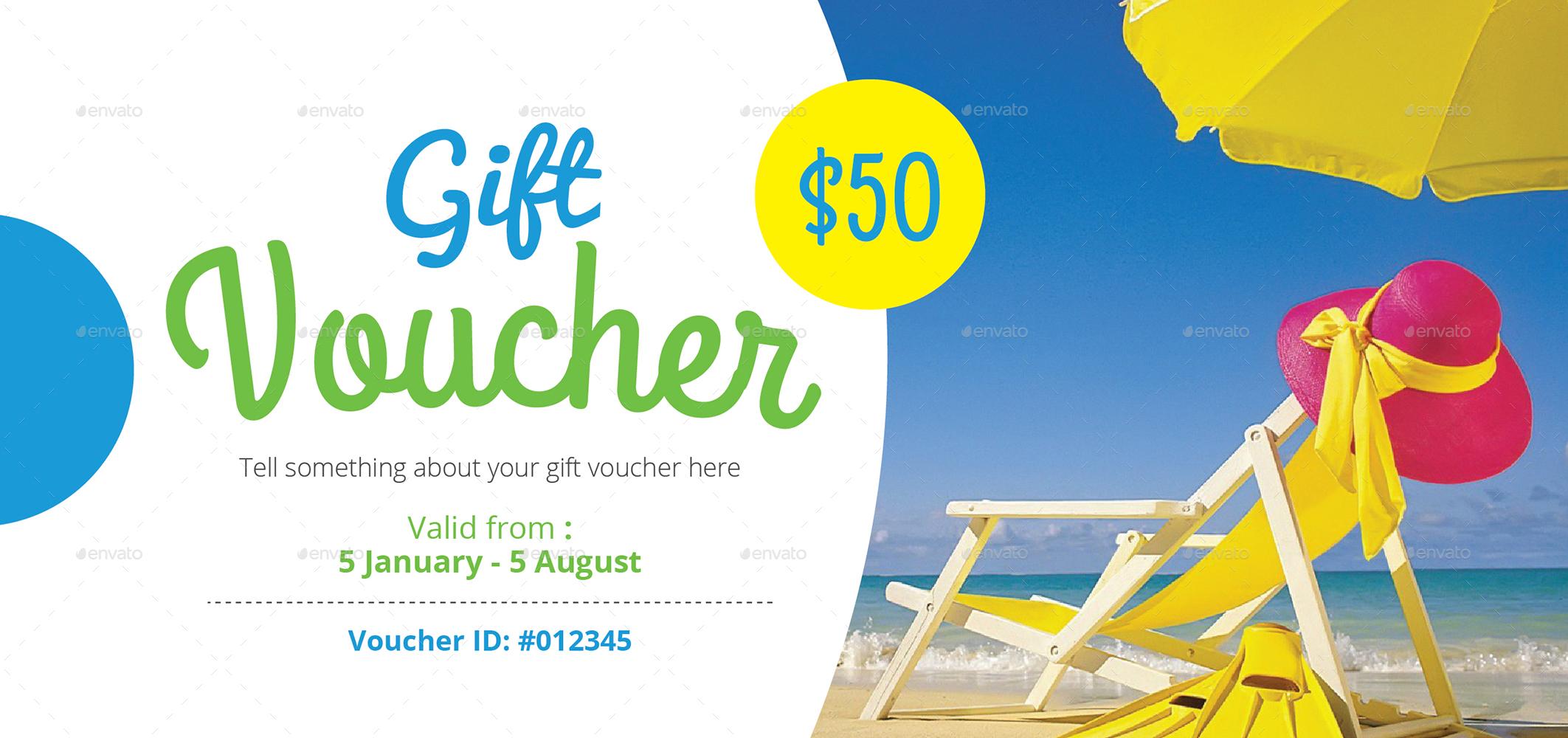 resort summer gift voucher example