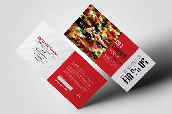 restaurant food gift voucher design example