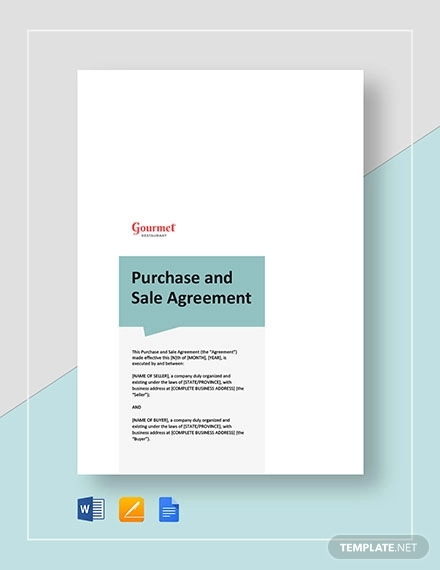 restaurant purchase and sale
