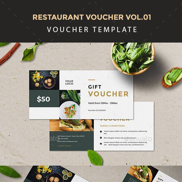 restaurant voucher template design example