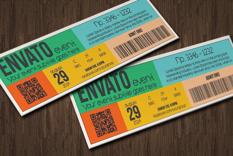 retro event party ticket event example