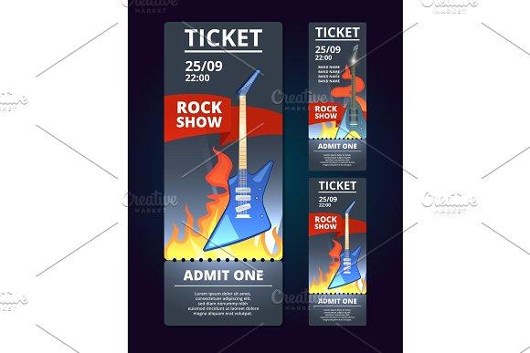 rock live concert ticket example