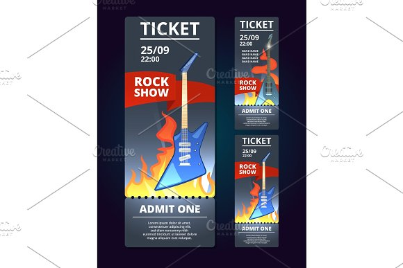 rock live concert ticket example2