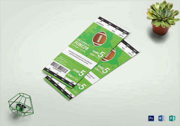 rugby game ticket template