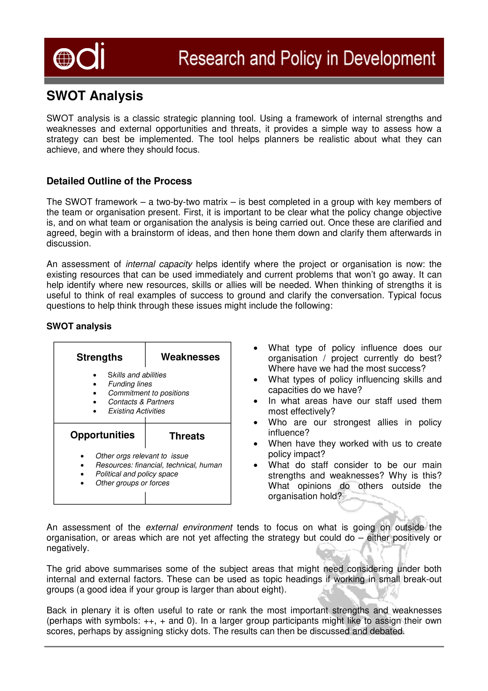 swot analysis chart with brief introduction example 1