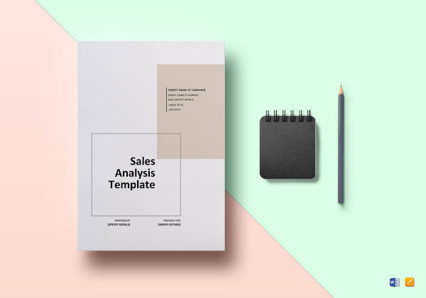 sales analysis template