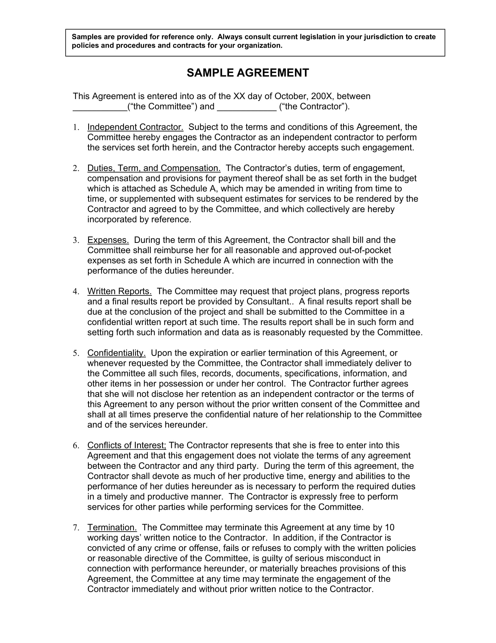 sample agreement template for a moving company contract example 1