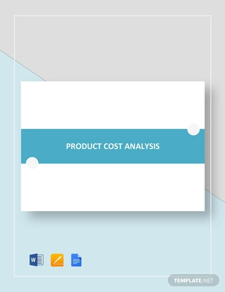 sample product cost analysis