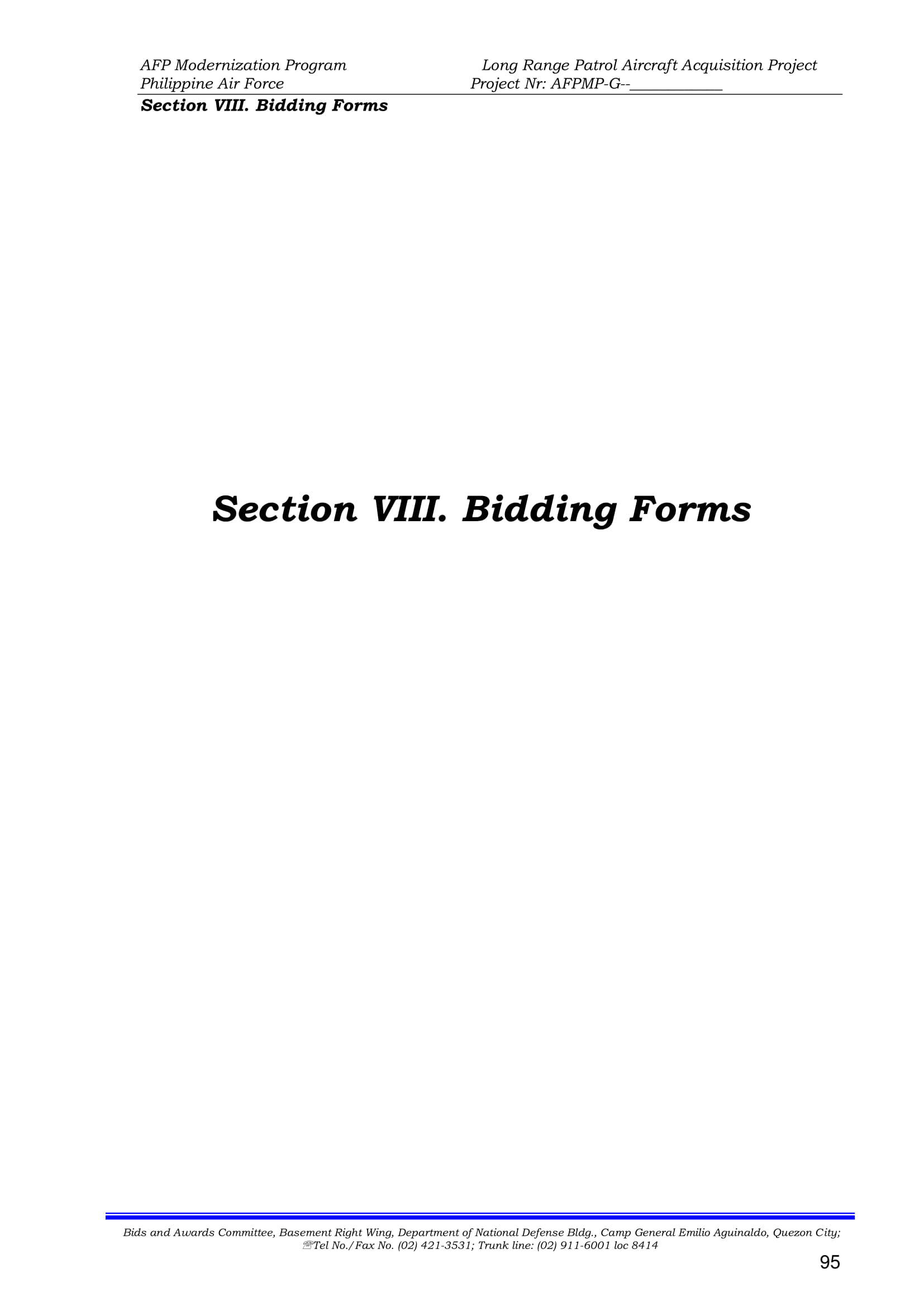 section 8 bid forms