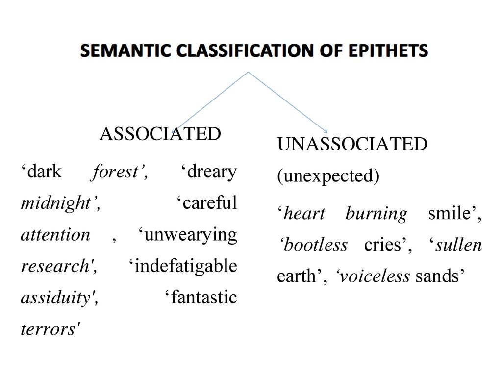 semantic classification of epithets