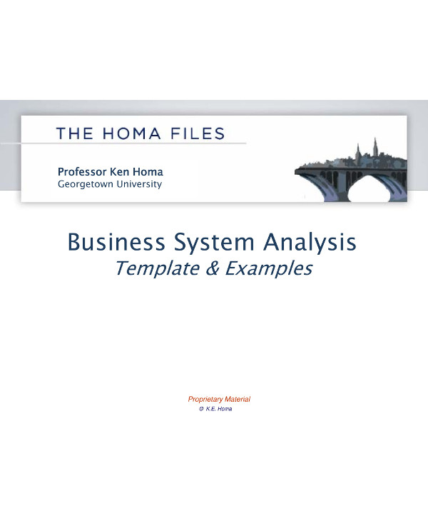 simple business systems analysis template example