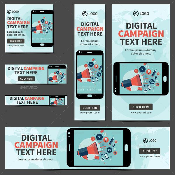 simple digital marketing banner example