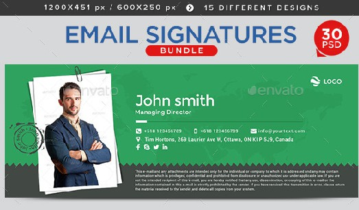 simple electronic store email signature example