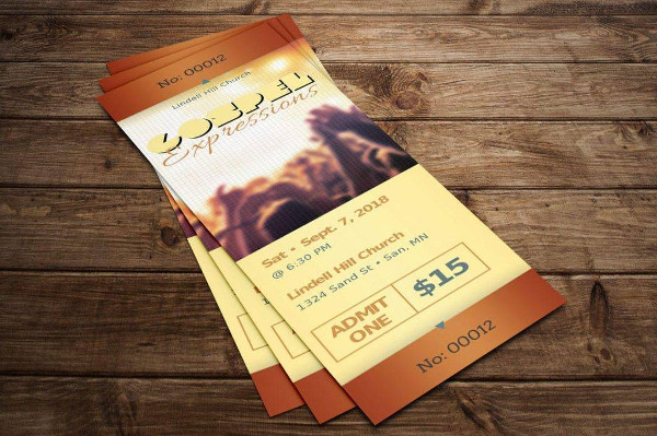simple gospel concert ticket example1