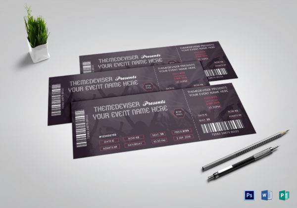 simple music concert ticket example1