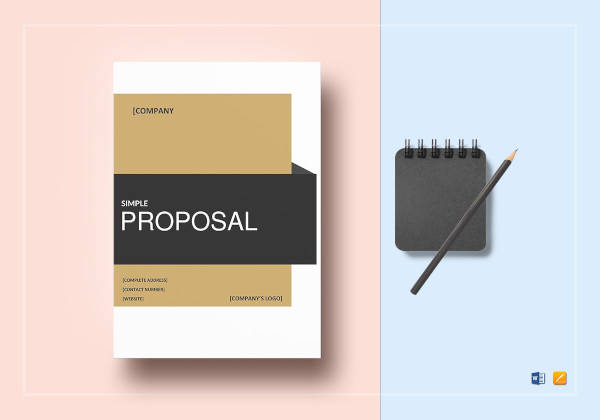 simple proposal template to print