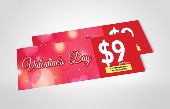 simple valentines pass and party ticket example