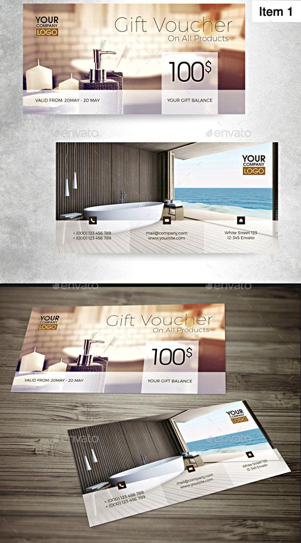 sleek hotel voucher example