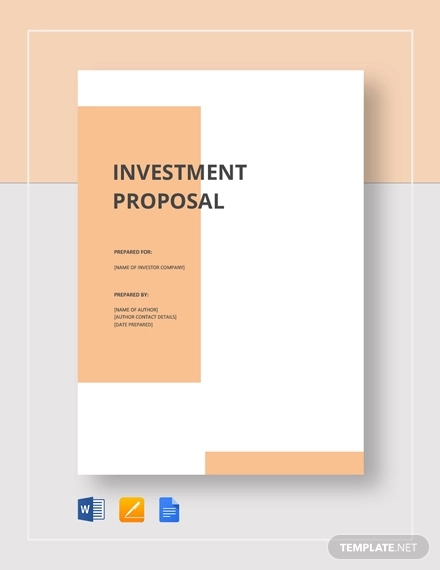 small business investment proposal