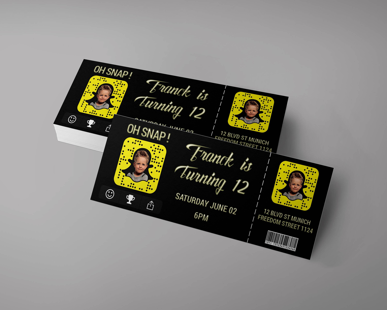 snapchat birthday event ticket example