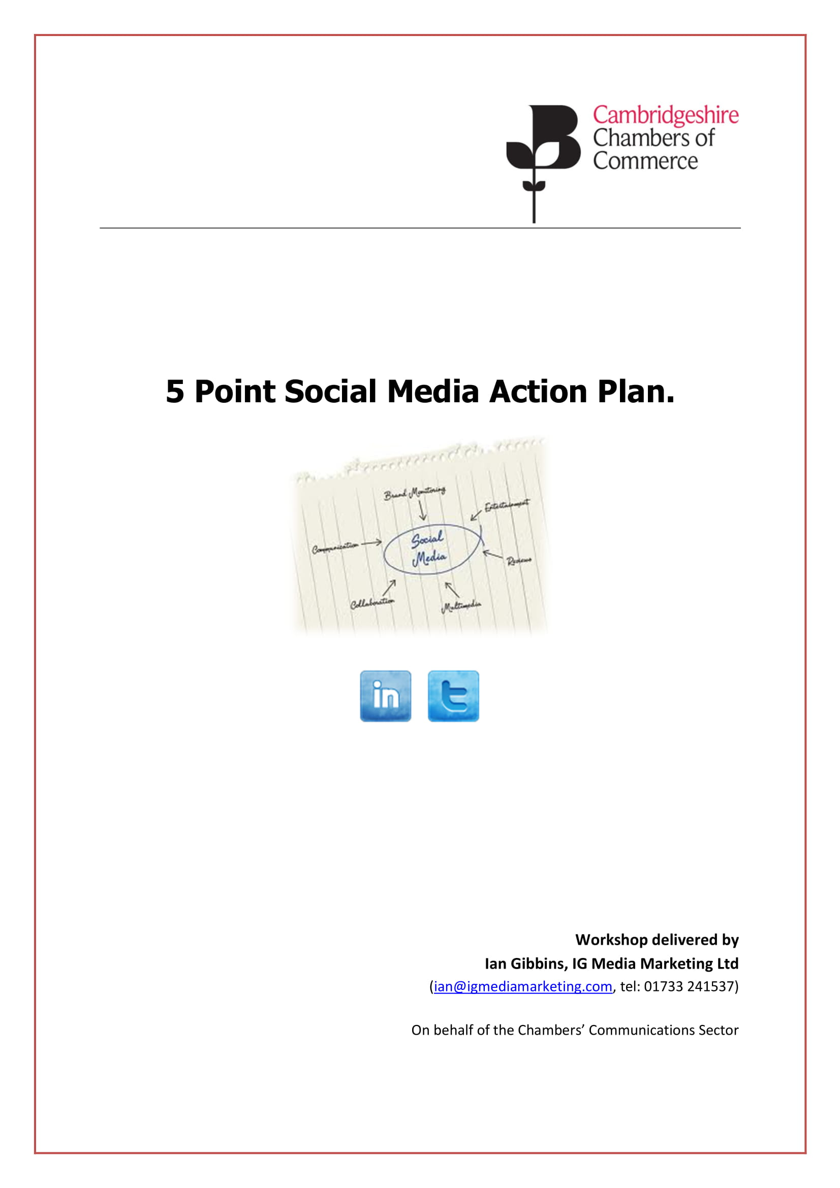 social media action plan as a part of your business strategic plan example 01