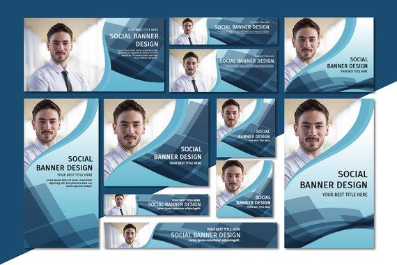 social media banner pack example
