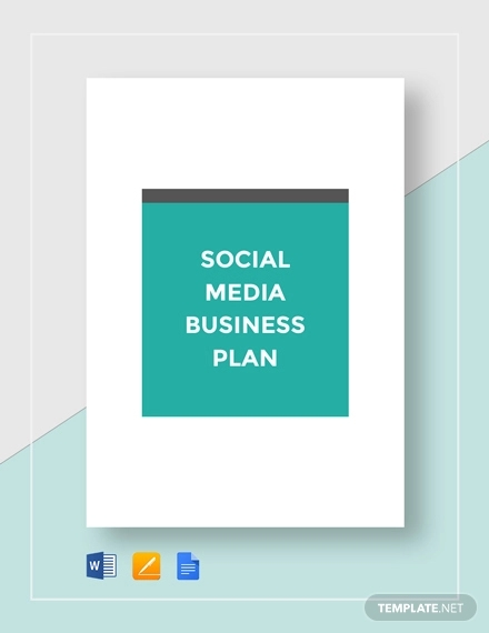 social media business plan template