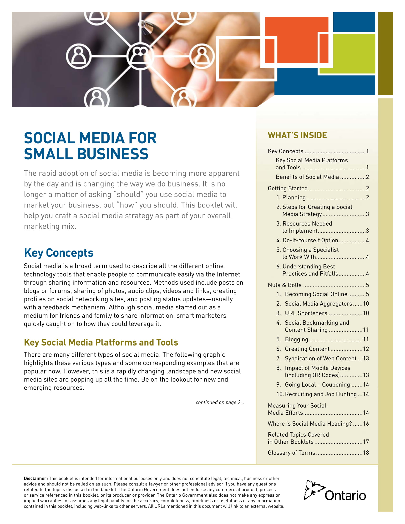 social media plan for small businesses example 01