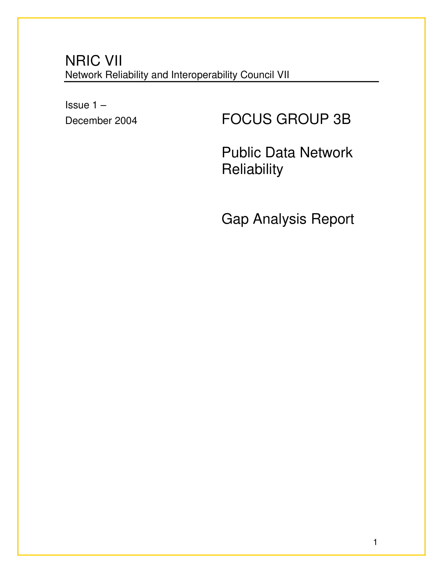 software network gap analysis example