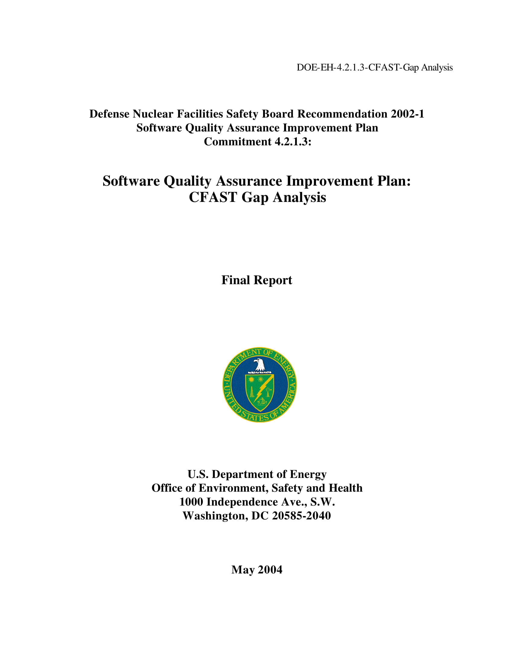 software quality assurance gap analysis example
