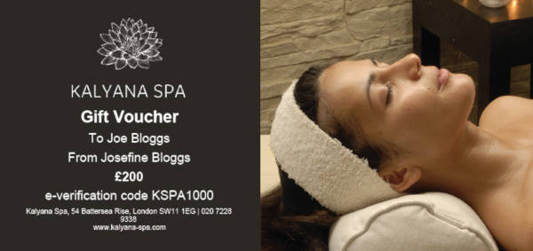 spa gift voucher example