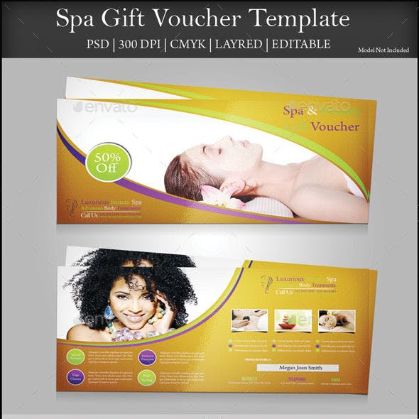 spa gift vouchers for pampering