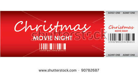 special red christmas movie ticket template example