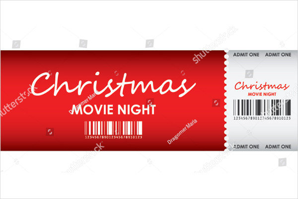 special red christmas movie ticket template example1