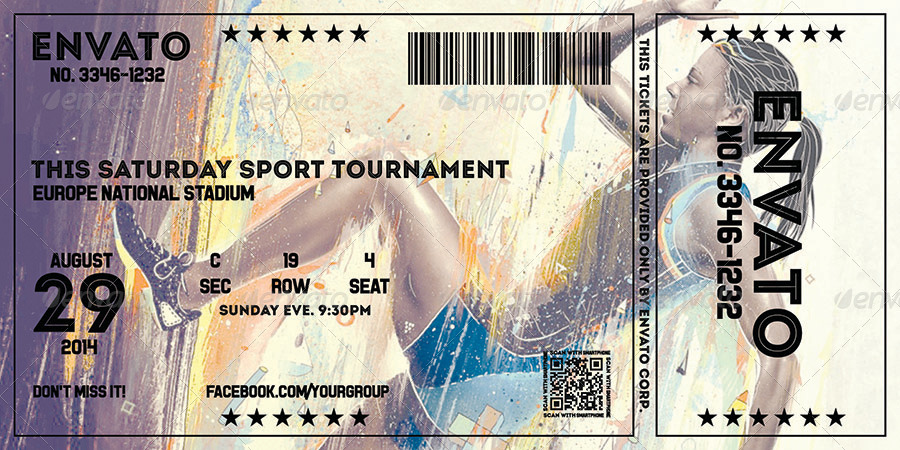 sport tournament event ticket example