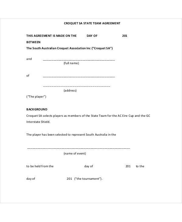 state team player agreement