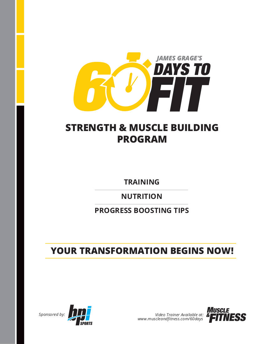strength and muscle building workout plan example