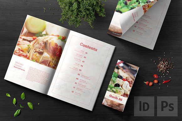 stylish cookbook catalog template