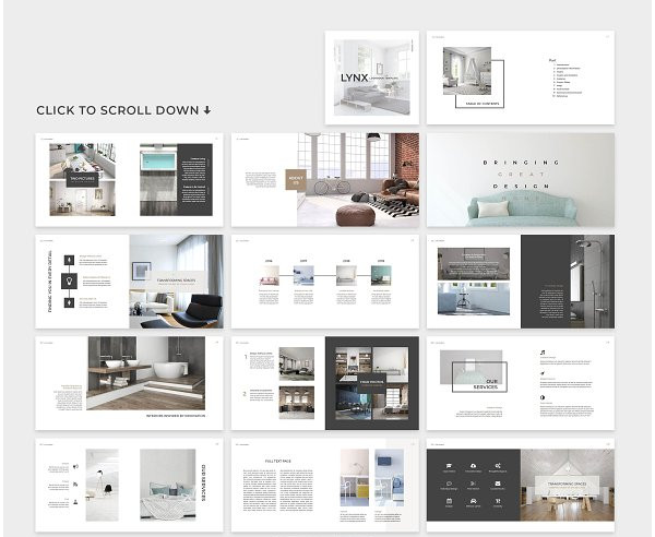stylish home decor lookbook template1