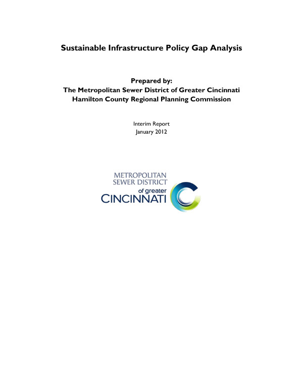 sustainable infrastructure policy gap analysis example