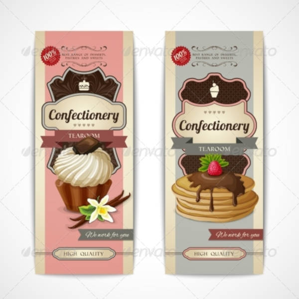 sweets vintage vertical banner example