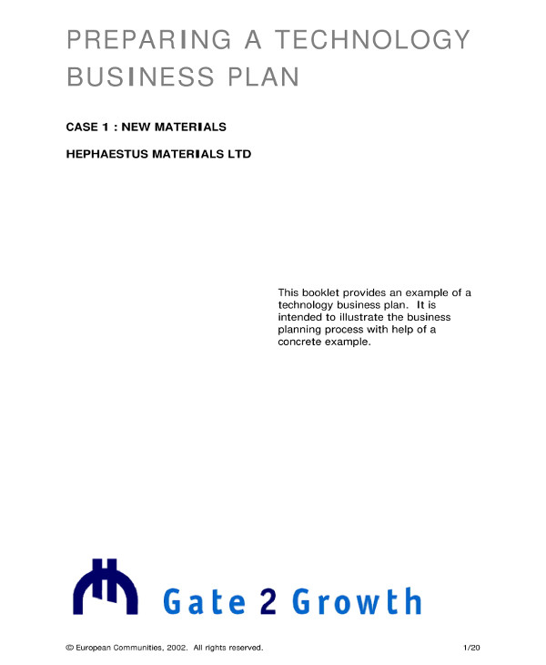 tech startup business plan example1