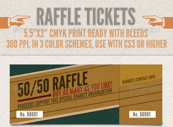 textured raffle ticket template example