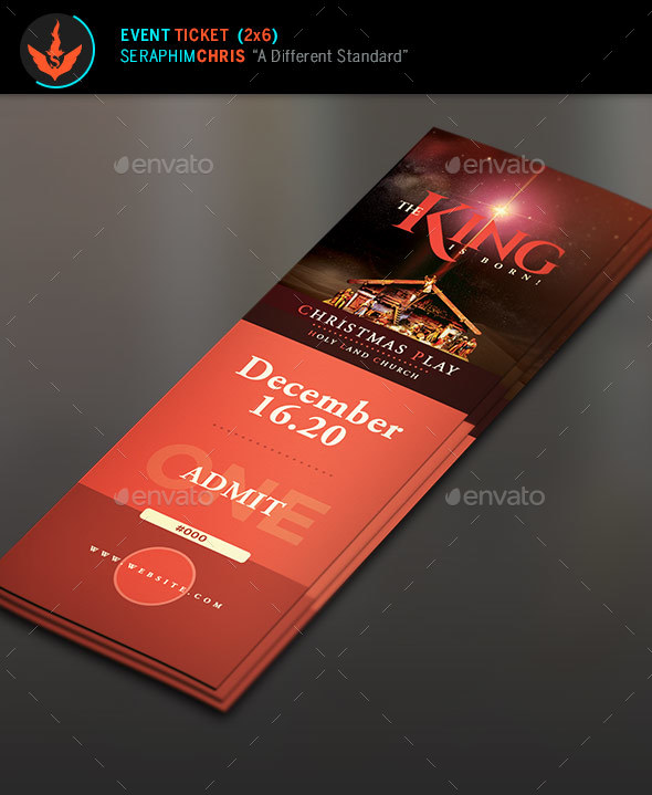 the king is born christmas ticket template example